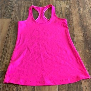 Bright pink cool racerback
